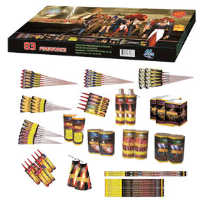Street wise selection box. This box contains an amazing 83 fireworks. RRP £199.99 Now £66.50